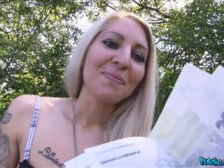 Vanessa Hot Tattooed Blonde Fucked in a Car